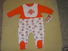 Nascar Tony Stewart #20 Sleeper with Bib Sz 6-9 Mos NIP