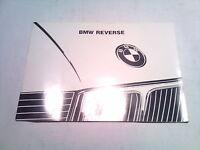 Bedienungsanleitung BMW Reverse Autoradio Betriebsanleitung