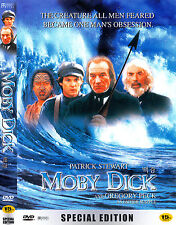 Moby Dick (1998) Gregory Peck, Patrick Stewart [DVD] FAST SHIPPING