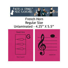 "French Horn 4.25""x5.5"" Music Flashcards by N&S"
