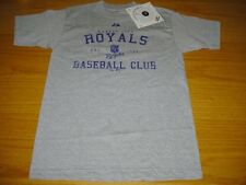 NEW WT VINTAGE STYLE KANSAS CITY ROYALS GRAY COTTON T-SHIRT BOYS M 8 MAJESTIC