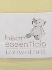 IZZIWOTNOT BEAR ESSENTIALS LEMON  FLEECE COT BLANKET