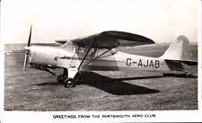 Portsmouth Aero Club Greetings. G-AJAB. Aeroplane.