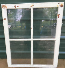 Wood Frame Window 4 Pane 29 x 24 vintage wooden sash picture four glass