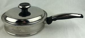 "Lifetime 12 Element Solar Cap 8"" Skillet Fry Pan With Lid Pot T304CCSS Stainless"