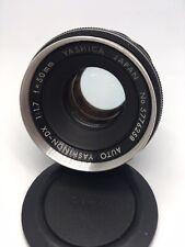 Yashica Japan Auto Yashinon-DX 50mm f/1.7 Chrome Nose M42 Mount Lens