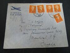 Nederland 520 5x op brief van Breda naar Montreal 1952