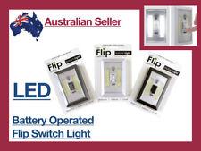 LED Wall Lighted Switch Wireless Closet Night Light Battery Stick On Grey Black