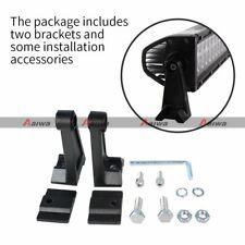 1 pair For LED Work Light Bar Mounts Side Brackets Mounting Rotating Universal