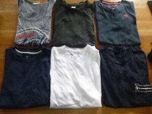 Bundle of T Shirt tops inc Champion, Abercrombie Teen Boy / Small Man