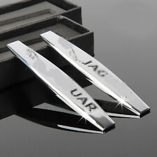 2Pcs Car Logo Sticker Decal Emblem Badge Accessories Chrome Metal for Jaguar