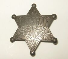 Old West Silver Plated Deputy Sheriff Dress Badge Marshal