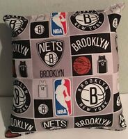Nets, Pillow Brooklyn, New York, Pillow NBA, Handmade in USA Pillow, Basketball