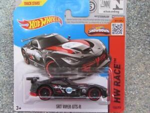 Hot Wheels 2015 #150/250 SRT Viper Gts-R Noir Hw Course Neuf Fonte 2015