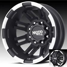 17 Inch Black Wheels Rims Dodge RAM 3500 Chevy Silverado Ford F350 Dually 8x6.5