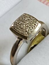fine gold jewellery 10ct  white gold  diamond ring 3.59 grams (6)