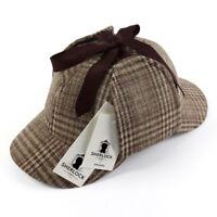 Outdoor Cosplay Detective Sherlock Holmes Deerstalker Hat Women Men  Berets Cap