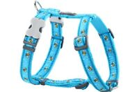 Red Dingo Bee Pattern BLUE Harness for Dog or Puppy | Sizes XS - LG | FREE P&P