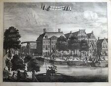 Amsterdam, Waterloo, oudezijds huiszittenhuis, Commelin antigua de impresión de 1693