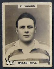 PINNACE FOOTBALL-PINNACE BACK-#1819- RUGBY - WIGAN RFL - T. WOODS