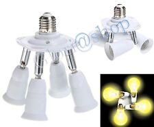 SDOPPIATORE 4 INGRESSI E27 ADATTATORE LAMPADINA PORTALAMPADA E 27 X 4 LAMPADINE