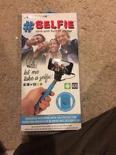 Selfie Stick with Built In Shutter - Blue