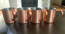 Crate & Barrell Copper Moscow Mule Mugs Set Of 4