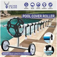 Adjustable Swimming Pool Cover Roller Reel Solar Blanket with Wheels