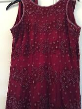 "Monsoon Ruby Sequin Dress Full Length 55"" Size 8 Excel Cond Hols"