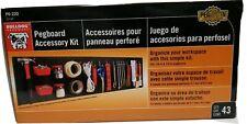 Bulldog Hardware PegaSystem 43 Piece Pegboard Accessory Kit Garage Organization