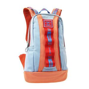 CHANEL Sport Line Hi Summer CC Backpack Hand Bag 7628752 Red Blue Canvas 32210