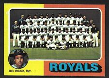 1975 TOPPS LARGE #72  KANSAS CITY ROYALS Team Card  ( Unmarked Boxes )  EX+   A