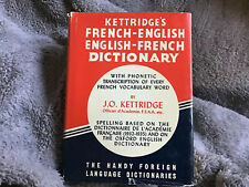 Kettridge's French-English Dictionary ~ Handy Foreign Language Dictionary ~ 1935