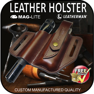 MAGLITE LEATHERMAN UPGRADE LEATHER HOLSTER MULTI TOOL FLASHLIGHT TORCH TACTICAL