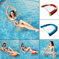 Inflatable Floating Row PVC Swimming Pool Chair Water Hammock Float Pool Bed