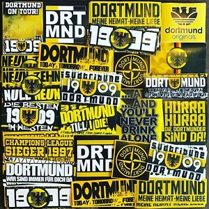 100 x Dortmund Ultra Stickers inspired by Shirt Scarf Badge Flag Poster Cap Hat