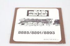QUADERNO ACCOMPAGNAMENTO ISTRUZIONI DESCRIZIONE Locomotiva 8885 8891 8893