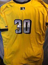 adam duvall signed game used louisville bats star trek jersey