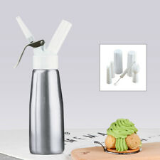 Durable Aluminum 500ML Whipped Cream Dispenser Fresh Cream Canister Whipper