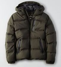 American Eagle AEO Mens Tech Puffer Winter Coat Jacket Olive  Sizes S SMALL NEW!