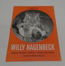 Programma Circus / programm Willy Hagenbeck 60's / 7 pagina's