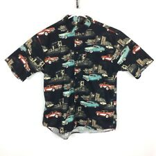 CLEARWATER Outfitters Mens XL Shirt Multi color button front Old Town Car Print