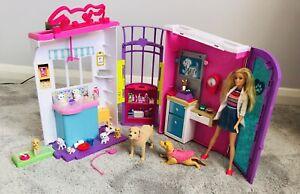 Barbie Pet Care Centre Animal Clinic Folding Playset Vet Nurse Doll Accessories