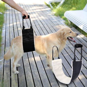 Fleece Dog Rear Lift Support Harness Sling with Handle for Lifting Medium Large