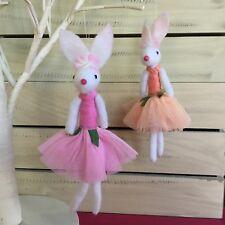 Gisela Graham Spring Ballerina Mouse Wool Felt Easter Decoration Hanging Girl
