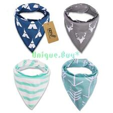 Adjustable IZIV 4pcs/lot Baby Kids Bibs Bandana Saliva Towel Triangle Head Scarf