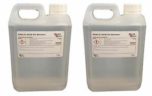 Oxalic Acid 5% Solution 2 x 2L Jerry Bleaching / Stain Removal / Rust Remover