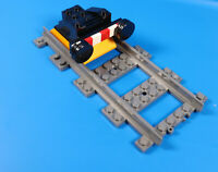 LEGO® City Eisenbahn Puffer Lok Prellbock schwarz mit gerade Schiene