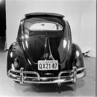 Volkswagen Beetle with Sunroof Sedan launch New York City 1956 4