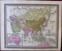 Asia Australia 1846 lovely Cowperthwait old map India Arabia Chinese Empire